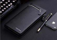 Free Shipping 2015 fashion new business wallets men s long zipper purse multicard brand European and