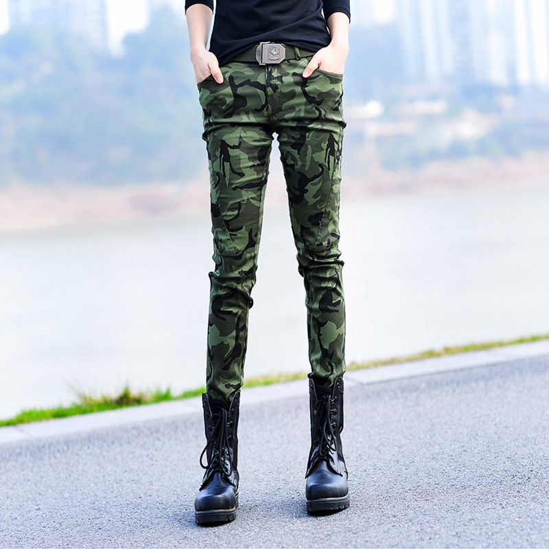 Fashion Women's Camouflage Cargo Pants Spring Autumn Army Casual Print Women Long Trousers Plus Size Jogger Pants Camo Military(China (Mainland))