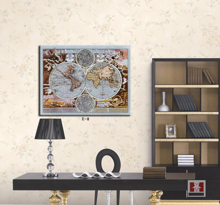 The world map painting office decoration canvas wall art