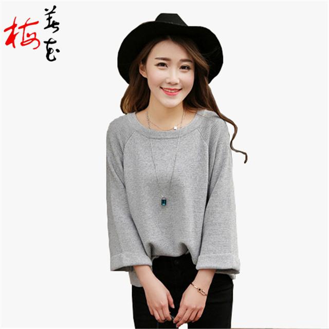 Кашемировый свитер пуловер свободной женщины перемычка топ дизайнер свитер женщины ...