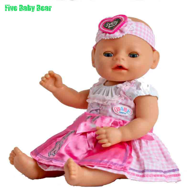 2pcs/set New Fashion Dress and Hairband Cute Pink Dress for 43cm Baby Born Zapf Doll Clothes(China (Mainland))