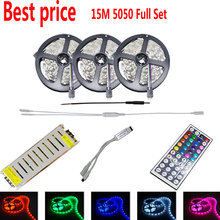 15 M 5050 RGB LED Lights bande 450 leds SMD lampes + 44 touches IR à distance + box Controller + 12 V 78 w puissance blanc chaud blanc froid(China (Mainland))
