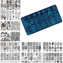 1 Pcs Nail Art Stamp Stamping Image Plate 6*12cm Stainless Steel Nail Template Manicure Stencil Tools, 20 Styles For Choose(China (Mainland))