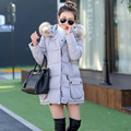 White Duck Down Winter Fur Collar Women Parka Outerwear Fashion Coat Down Jacket Thickening Autumn Long