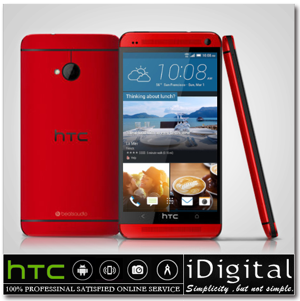 Original HTC ONE M7 Quad-Core 1.7GHz 32GB Android 4.4 3G GPS WIFI 4.7'' 1920x1080px Full HD Unlocked Smartphone Refurbished(China (Mainland))