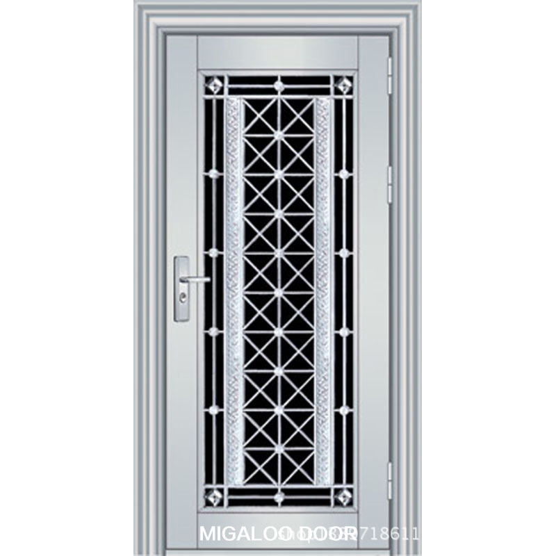 Foshan factory direct 304 stainless steel door security for Steel home entry doors
