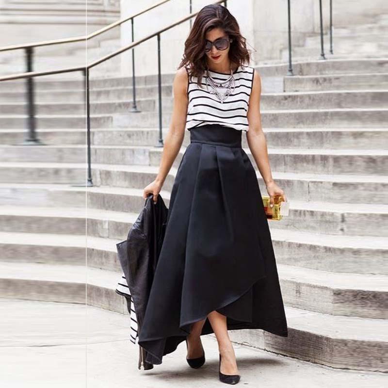 get cheap black high low maxi skirt aliexpress
