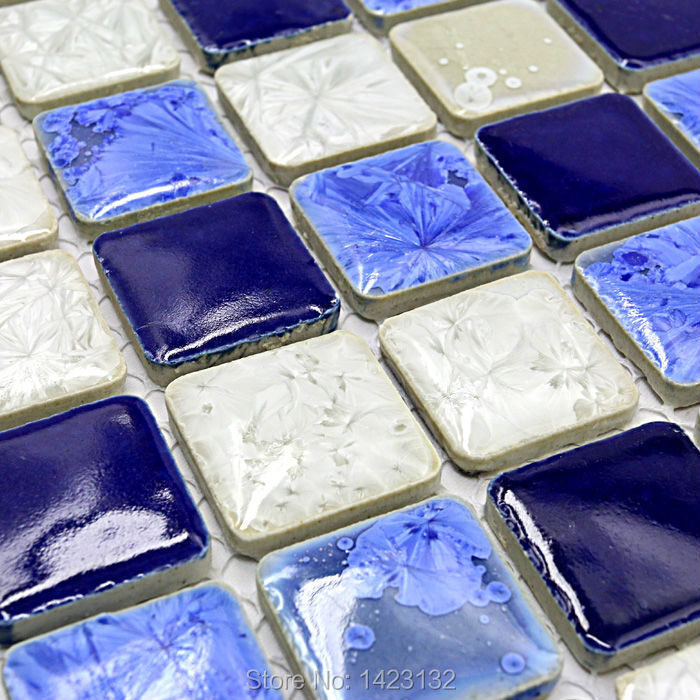 Porcelain tile glazed Ceramic mosaic square tiles GM010 Bathroom floor tile Kitchen backsplash tiles wall stickers pool(China (Mainland))