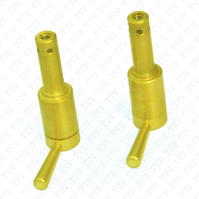2 Pcs/lot Hot Selling Gold-plated Airsoft Pistol Laser Bore Sighter for Training(China (Mainland))