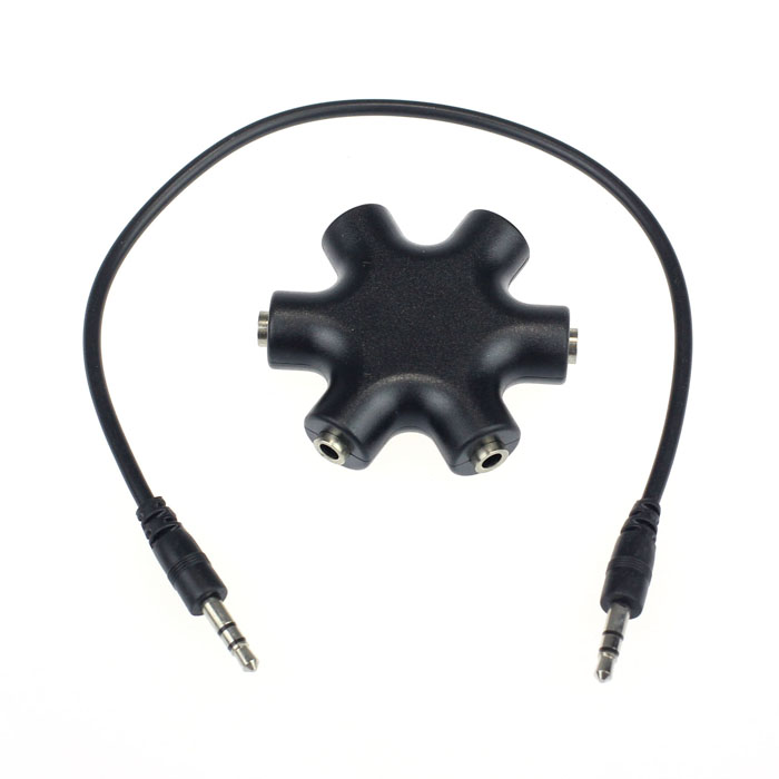 image for Top Quality New 3.5mm Headphone Earphone Audio Splitter 1 Male To 2 3
