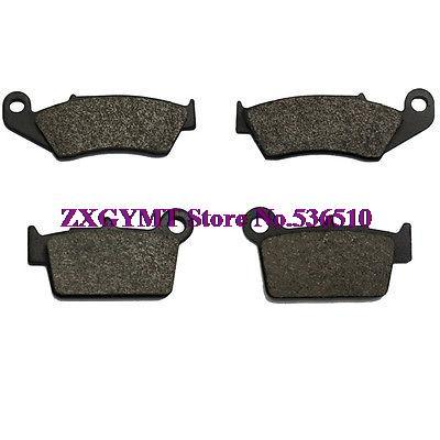 Brake Pads Set 2006 2007 2008 fit Kawasaki Kx 250 4t XH Carbon Front + Rear Brake Pads Set 06 07 08 X-0767(China (Mainland))