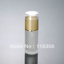 60ML  frosted glass bottle with golden lid,  lotion bottle for cosmetic packaging