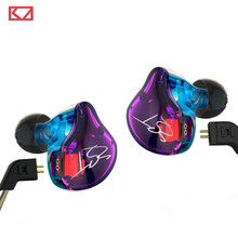 Hot KZ ZST 1DD+1BA Hybrid In Ear Earphone HIFI DJ Monito Running Sport Earphones Earplug Headset Earbud Two Colors Free Shipping(China (Mainland))