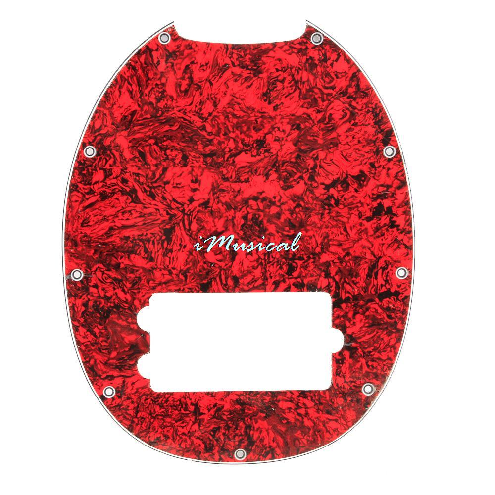 3 Ply 4 String Electric Bass Pickguard Pick Guard Scratch Plate Red Tortoise Shell(China (Mainland))