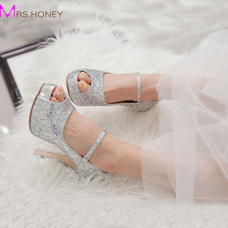 Silver Peep Toe Heel Promotion-Shop for Promotional Silver Peep ...