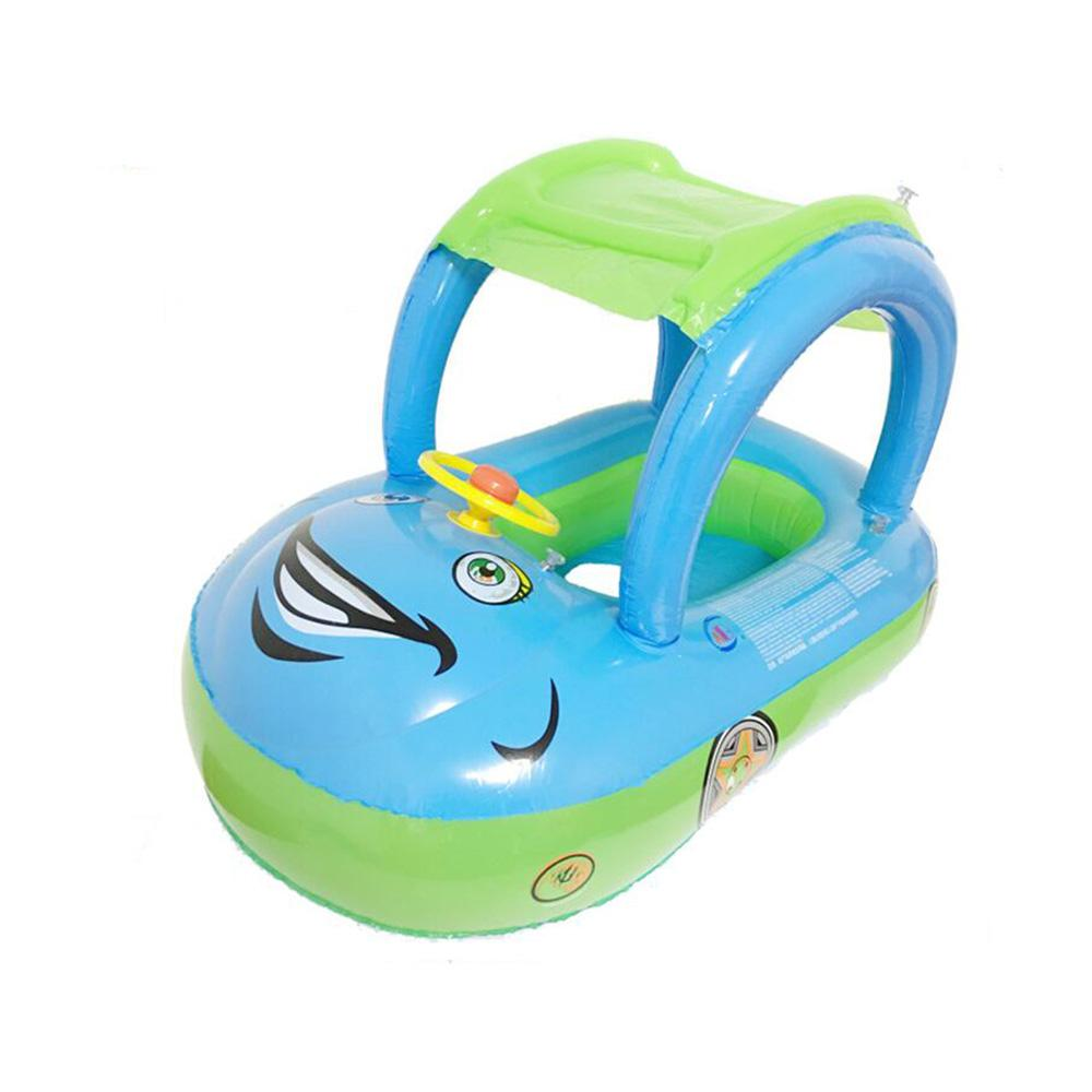 Colorful Baby Kids Inflatable Boat Car Style Swimming Pool Float Boat Children Swim Ring Inflatable Swimming Circle Seat Float(China (Mainland))
