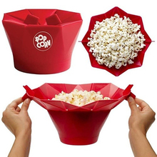 Kitchen Accessories 1 Pcs New Arrival Silicone Microwave Magic Popcorn Maker Popcorn Container Healthy Cooking