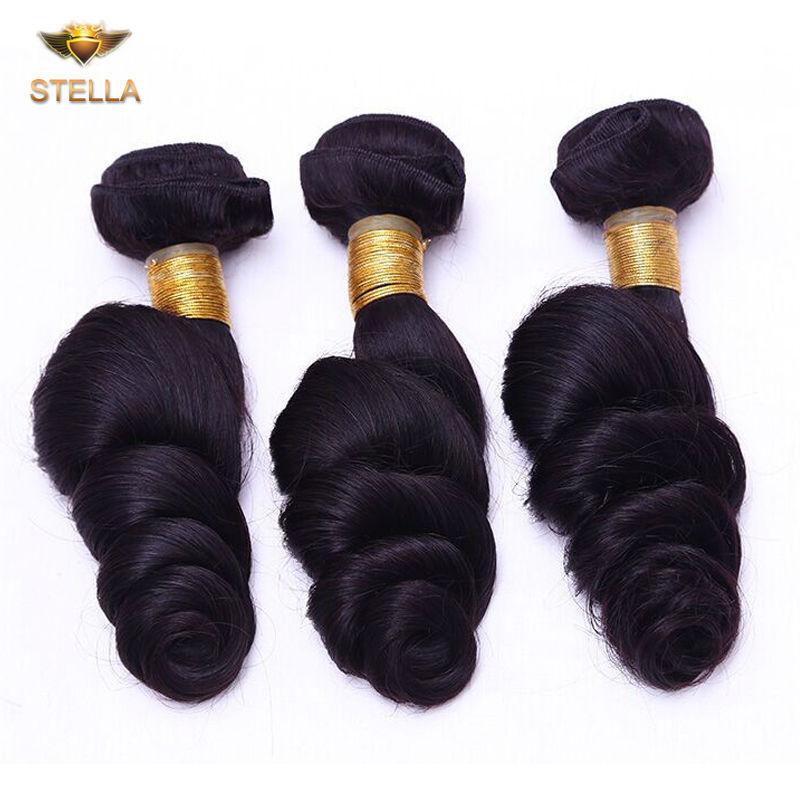 Grade 6A Peruvian Loose wave Hair Weaving 1 Piece/Lot Unprocessed Virgin Peruvian Hair Extension Human Hair Bundle
