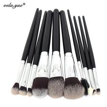 10pcs Professional Makeup Brushes Set High Quality Makeup Tools Kit Premium Full Function(Hong Kong)