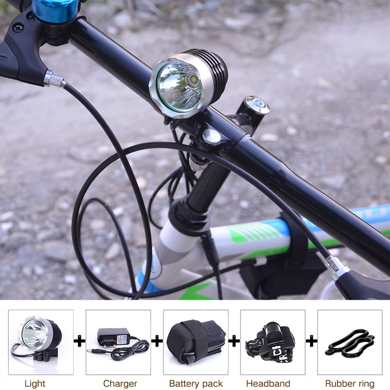 T6 Bicycle Light HeadLight 2000 Lumens 3 Mode Waterproof Bike Front Light LED HeadLamp With 8.4v 6400mAh Battery Pack &amp; Charger<br><br>Aliexpress
