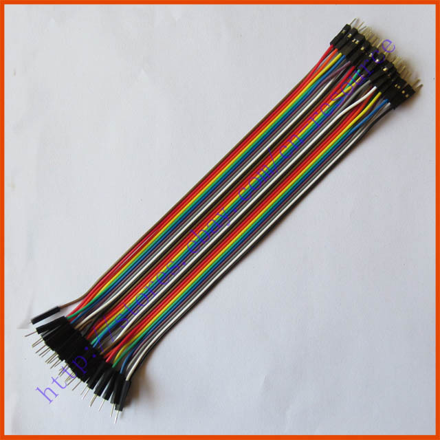 Электронные запчасти 40pcs 20 2,54 1pin Dupont Arduino Wire_Dupont_M-M_20cm 40pcs in row dupont cable 20cm 2 54mm 1pin 1p 1p female to male jumper wire for