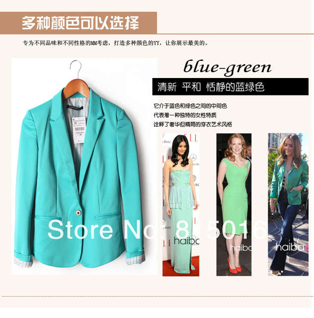 Frees shipping 2013 ladies's candy color little suit jacket free shipping lady's autumn clothing fashion coat with 6 colors