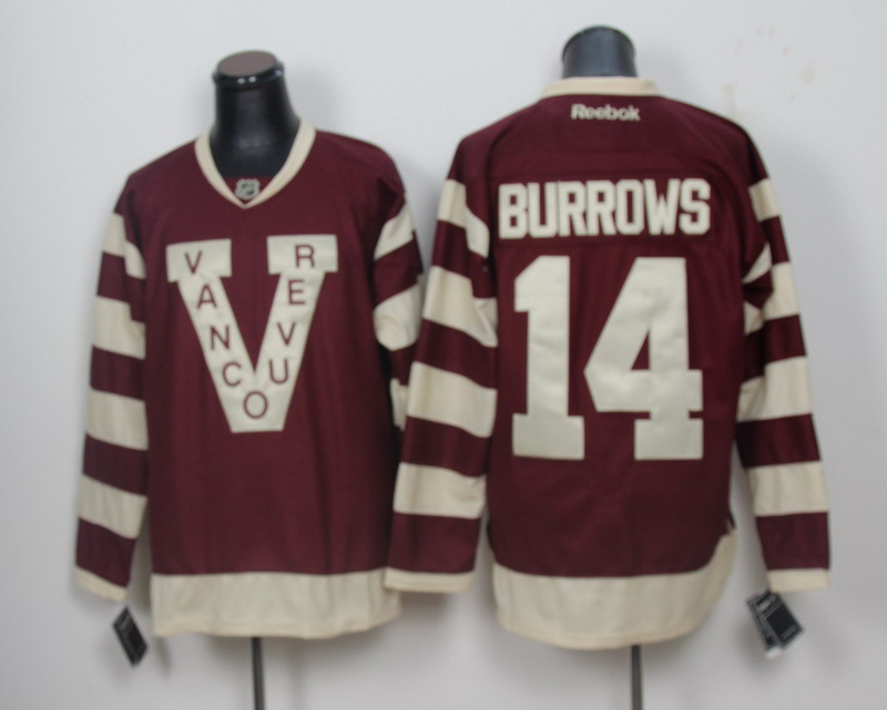 Discount Mens Vancouver Canucks Jersey #14 ALEXANDRE BURROWS Red Hockey Jersey Accept Retail And Mixed Orders<br><br>Aliexpress