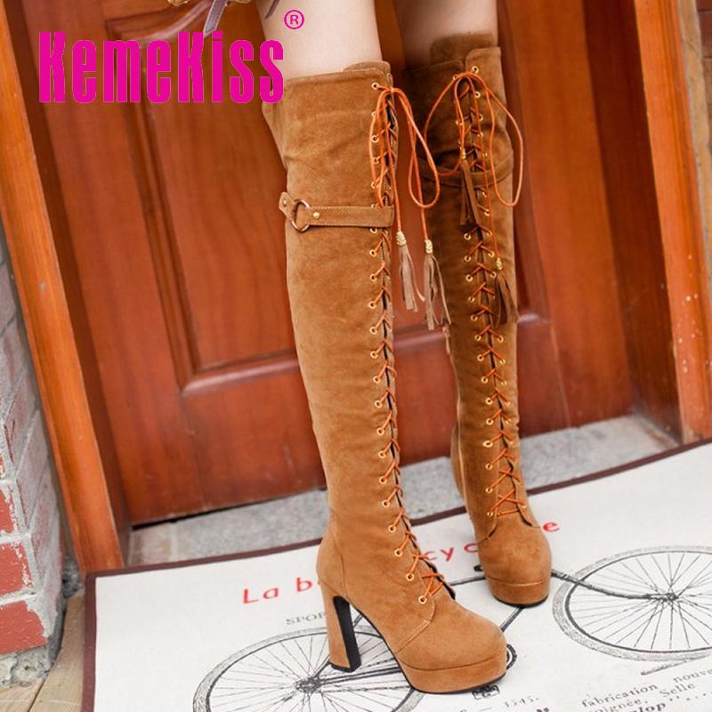 women high heel over knee boots weeding fashion autumn winter botas cross strap boot sexy footwear heels shoes P20518 size 34-43<br><br>Aliexpress