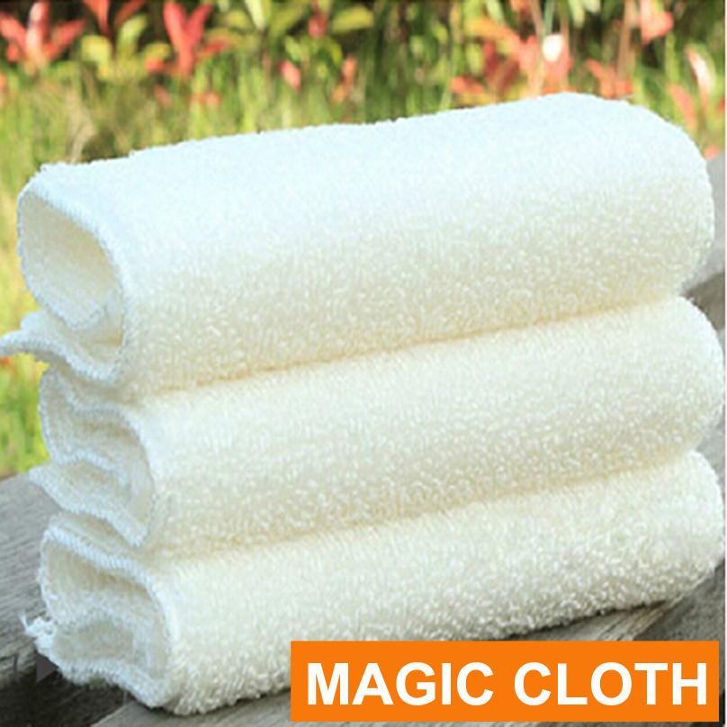TL High Efficient ANTI-GREASY Bamboo Fibre Wash Cloth Dishcloth Clean Towel Magic Kitchen Washing Cleaning Cloth Scouring Pad(China (Mainland))