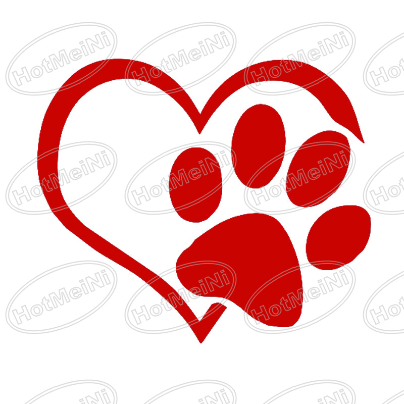 Heart Paw Vinyl Decal car truck sticker bumper window adopt bully Heart cat dog Laptop Boat Truck AUTO Bumper Wall Graphic New(China (Mainland))
