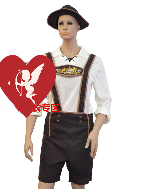 M - XXL Size New Man's Halloween Masquerade Festival Oktoberfest Beer Cosplay Costumes Farm Farmers Role Play Disfraces H1572917(China (Mainland))