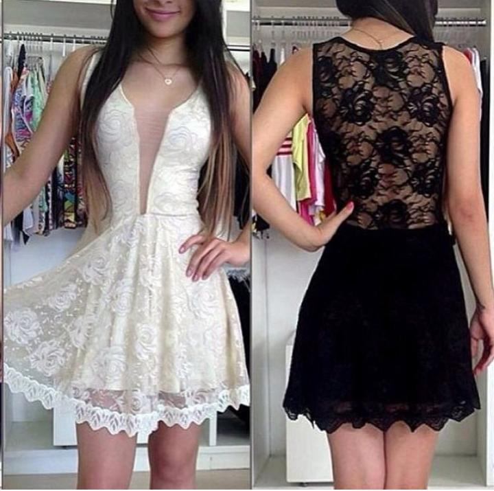 White and black flower rose lace mini dress women fashion vestidos 2015 new fashion summer style mini dress plus size(China (Mainland))