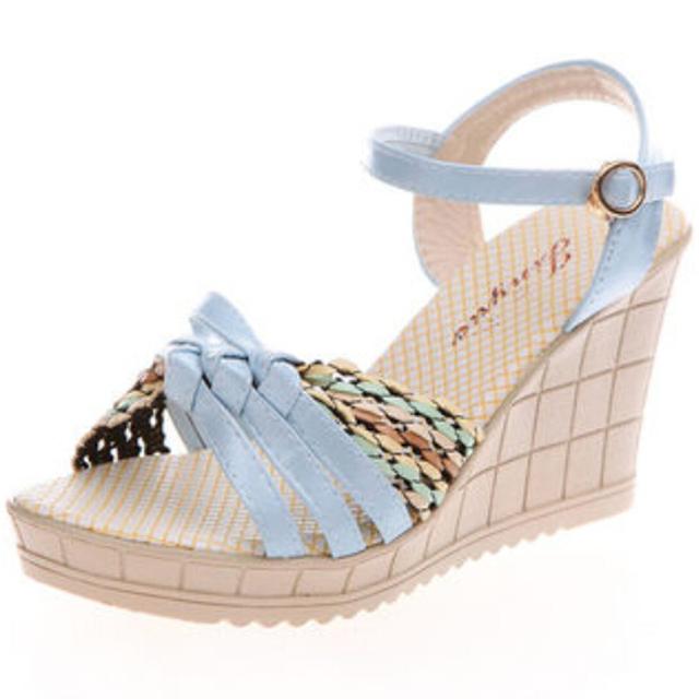 Женщины сандалии 2016 новый летний элегантные туфли женщина комфортабельный клинья ...