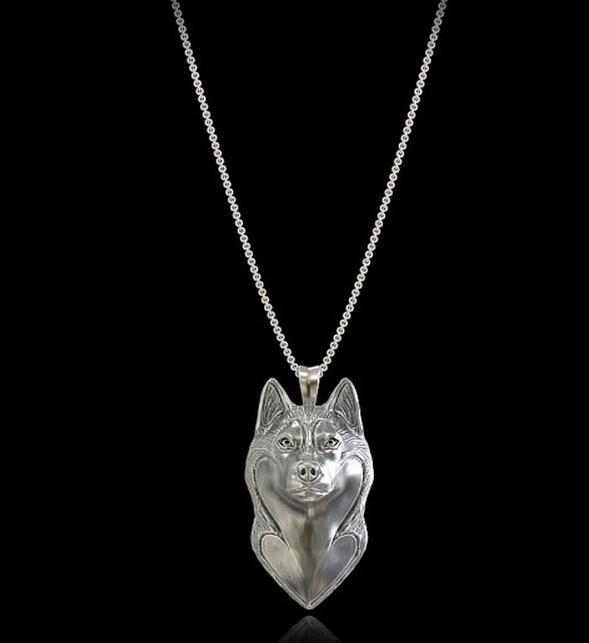 Summer fashion Alaskan Malamute necklace cartoon Siberian Husky dog pendant jewelry Silver/gold colors plated(China (Mainland))