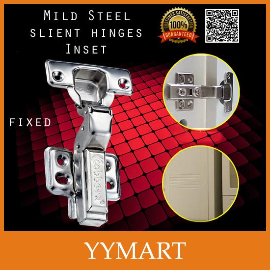1Pc Soft Silent Closer Hardware Mild Steel Fixed Inset Door Hydraulic Brass Buffer Cabinet Cupboard Door Hinges(China (Mainland))