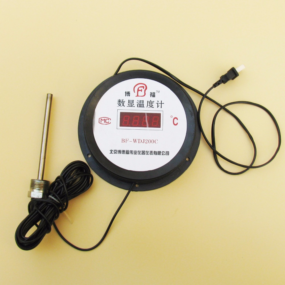 Industrial Digital Thermometer LED DIsplay Thermostat Laser Meter Temperature Sensor Power AC220V(China (Mainland))