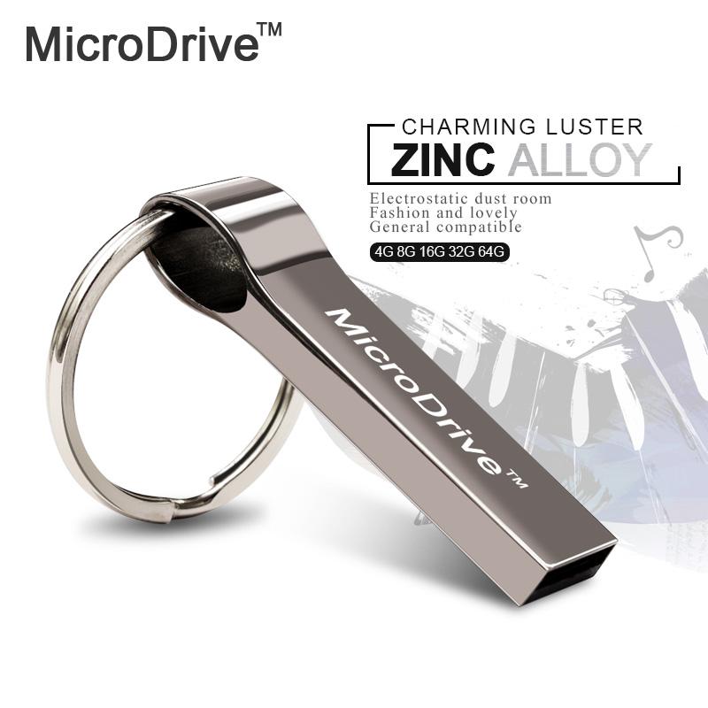 Silver Stainless USB Flash Drive Pen 4GB 8GB 16GB 32GB 64GB Memory Stick U disk Flash Pen with key chain can print logo(China (Mainland))