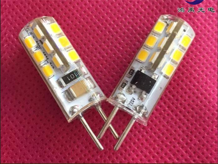 10pcs/lot led gu5.3 220v 2835 24smd led g5.3 220v crystal Light chandelier Spotlight bulb 220v g5.3 led 220v gu5.3