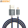 Bastec Super Strong Denim Metal Plug Micro USB Cable for iPhone 6 6s Plus 5s 5
