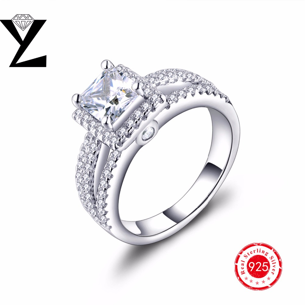 New Arrival 925 sterling silver Classic Engagement Ring jewelry with AAA CZ for women/men for Anniversary Birthday Gift Travel(China (Mainland))
