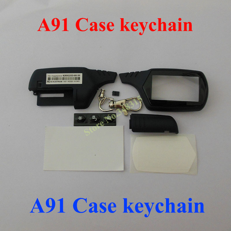 2015 New arrival A91 case keychain for Russian version starline A91 lcd remote two way car alarm system free shipping(China (Mainland))
