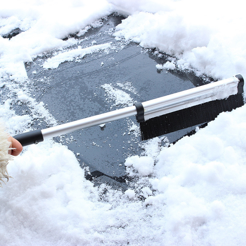 wupp 65cm Creative Design Stretchable Car vehicle Snow Ice Scraper Snowbrush Shovel Removal Brush Winter Top Quality Car Clean