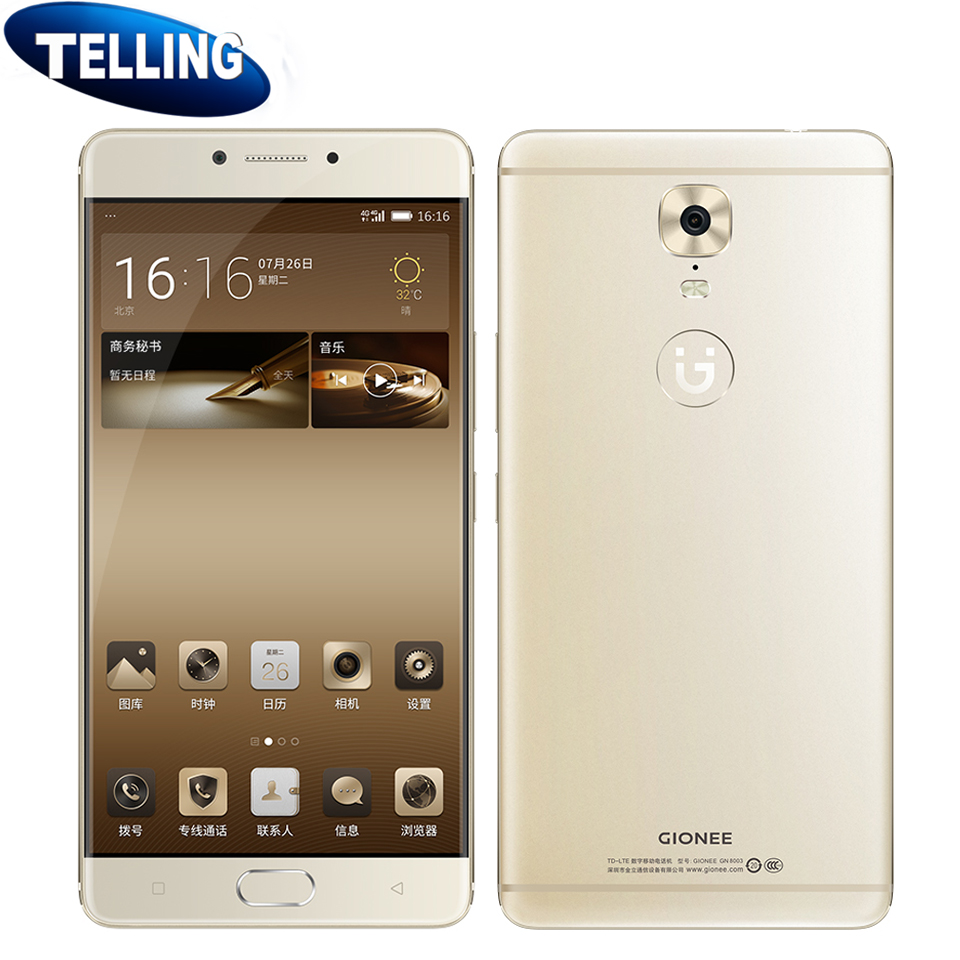 "5000mAh Gionee M6 Mobile Phone Android 6.0 MTK6755M Octa Core 1.8GHz 5.5"" FHD 4G RAM 64G/128G ROM Global Network 13M Fingerprint(China (Mainland))"