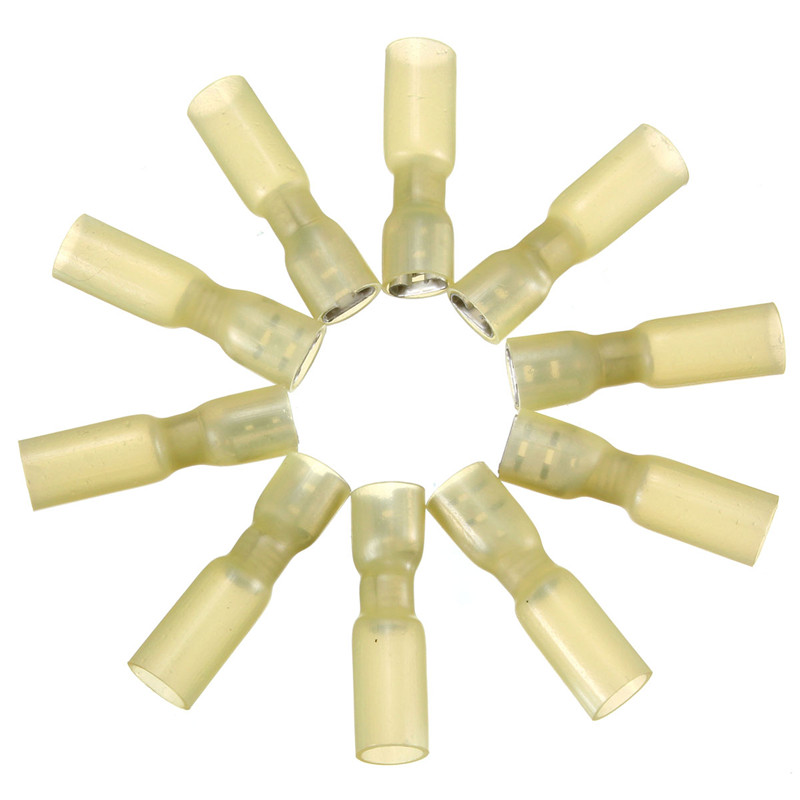 Industrial 10PCS Fully Insulated Yellow Female Spade Connector Terminal 1.5-2.5mm 16-14AWG Electrical Equipment(China (Mainland))