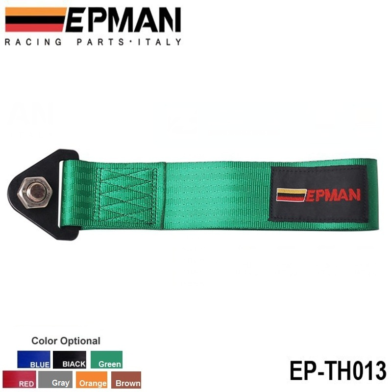EPMAN - Green Universal Towing Ropes tow strap Front/Rear Hook Heavy Duty High Strength Racing Tow Strap(China (Mainland))