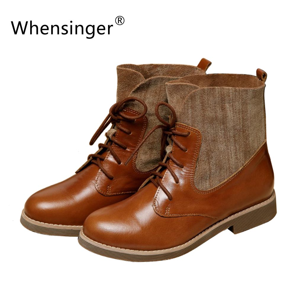 Здесь продается  Sen Shoes British Style Retro Handmade New Fashion Leather Boots Women
