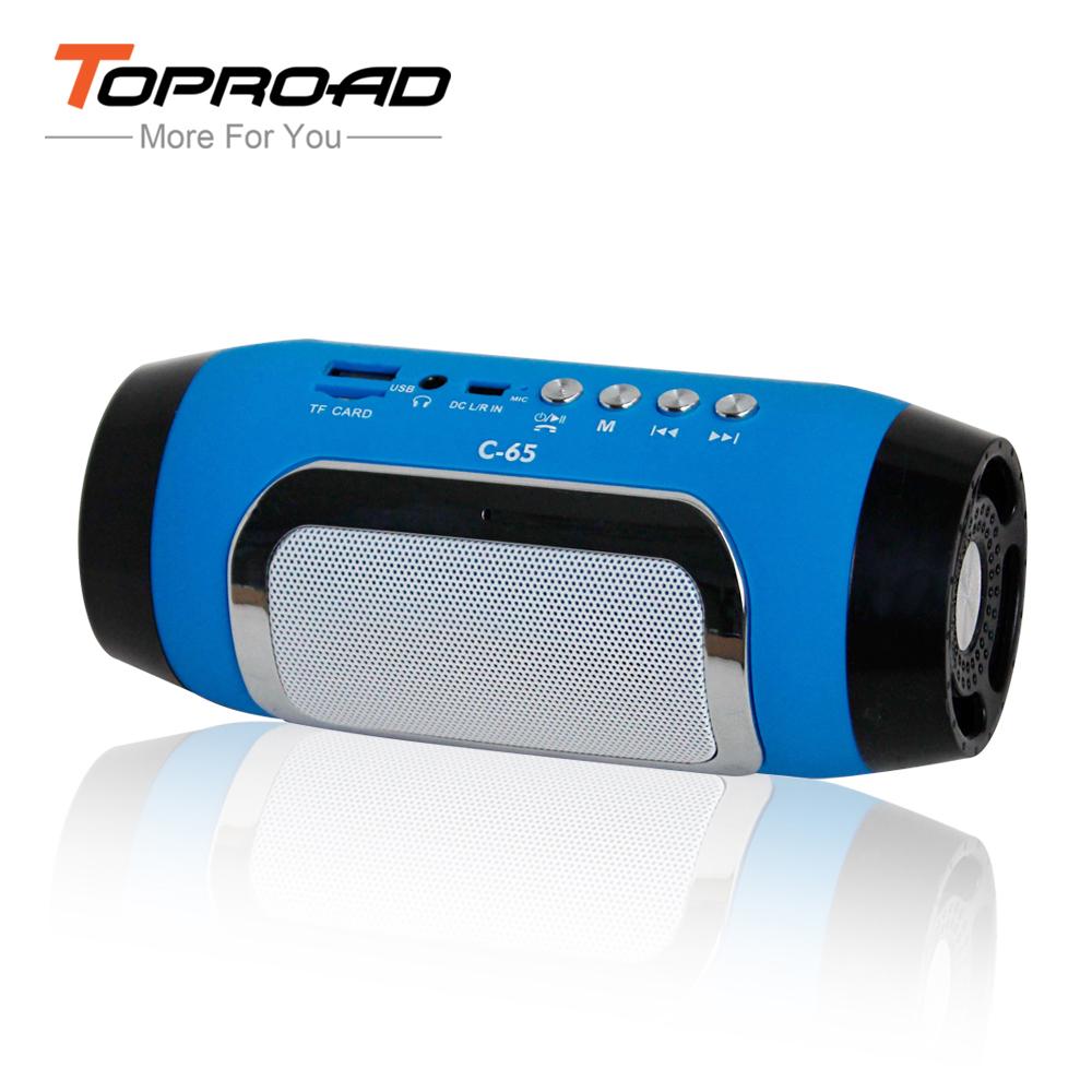 New Bluetooth Speaker Mini Stereo Radio Colum Speakers Wireless Portable Audio MP3 Player Support TF FM Radio For Computer Phone(China (Mainland))