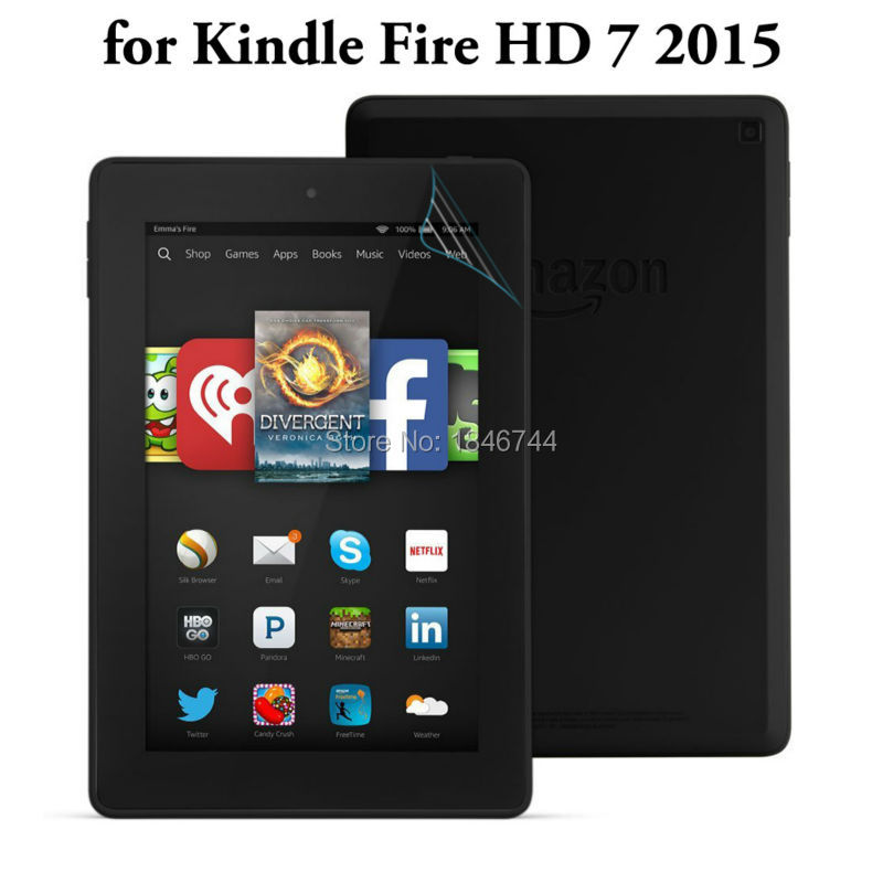 2x New Ultra Clear HD glossy Screen Protector For AMAZON Kindle Fire HD 7 2015 Screen protector protective Film kindle HD7 2015(China (Mainland))
