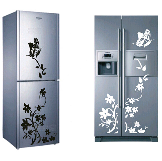 High Quality Creative Refrigerator Sticker Butterfly Pattern Wall Stickers Home Decor Free Shipping(China (Mainland))