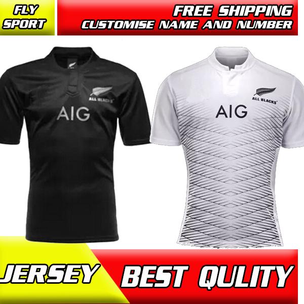 New Zealand All Blacks Rugby Shirt 2014/15 16Season All Blacks Men Rugby SEVENS best quality jersey 2015 2016 all blacks S-XXL(China (Mainland))